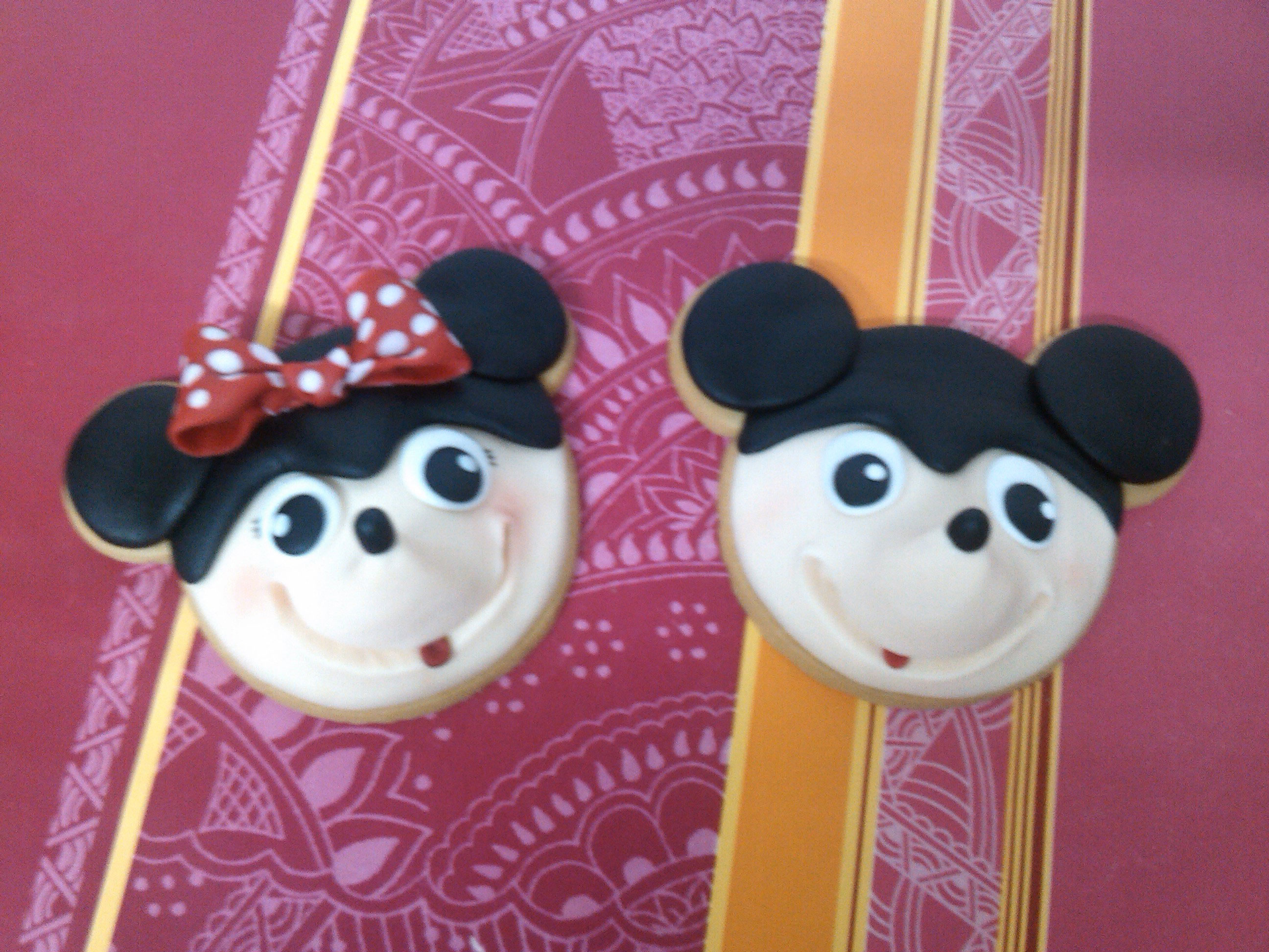Galletas Minnie y Mickey Mouse