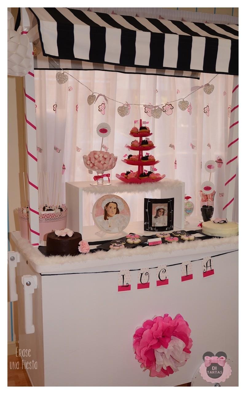 Mesa dulce candy bar para comuni n di tartas for Mesas dulces comunion nina