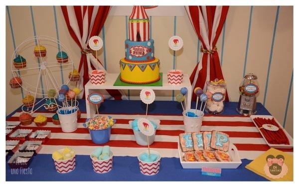 mesa dulce primera comunión niño temática el circo 1
