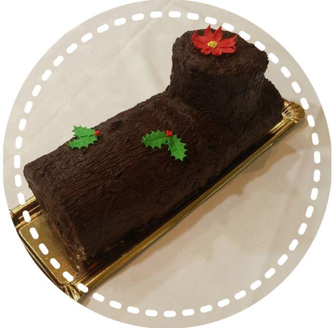 tronco de navidad diciembre