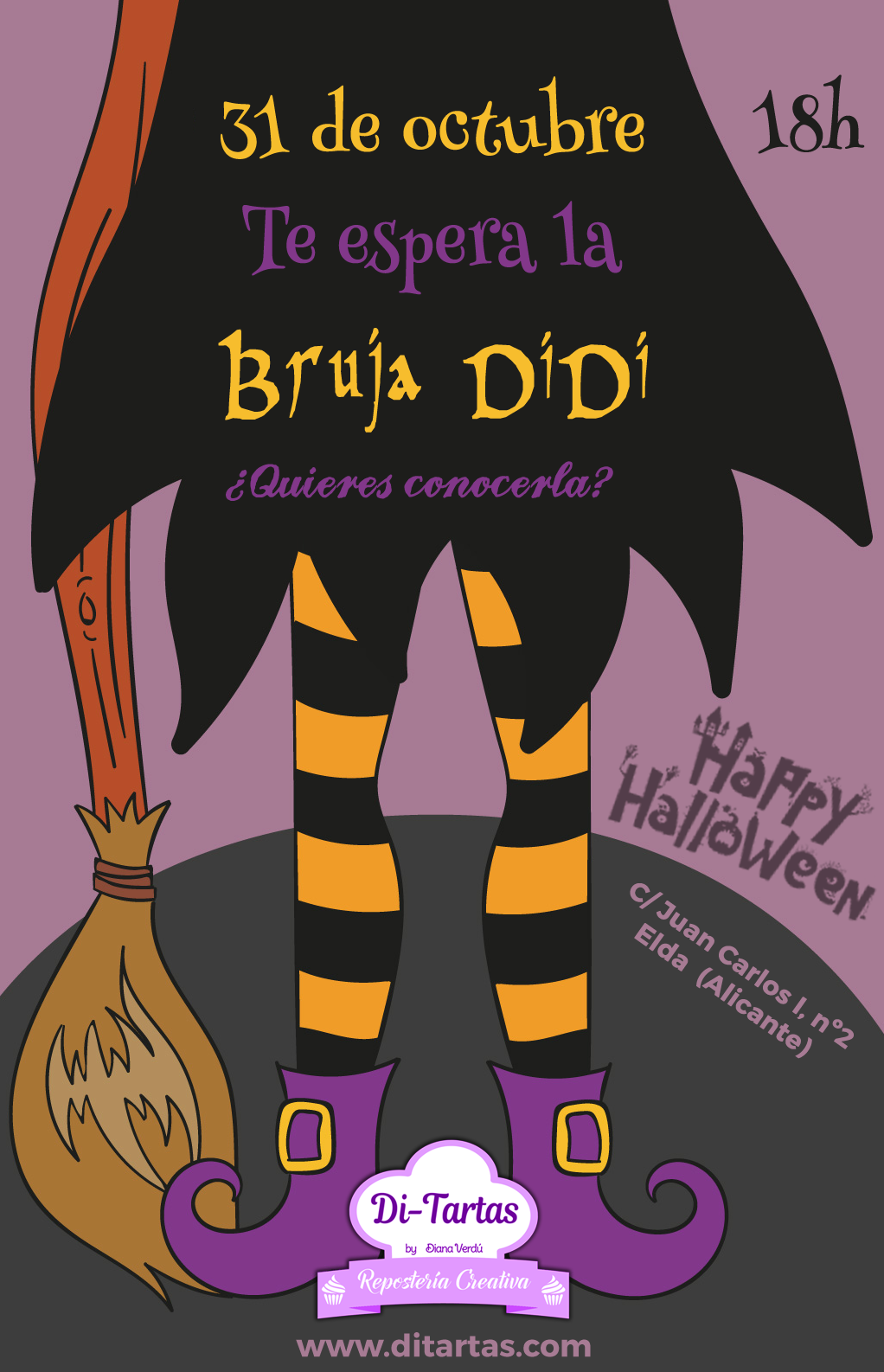 bruja DiDi halloween ditartas