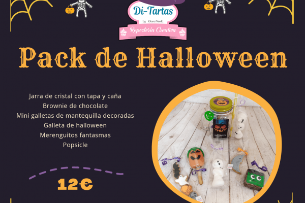 PACK halloween 20 ditartas