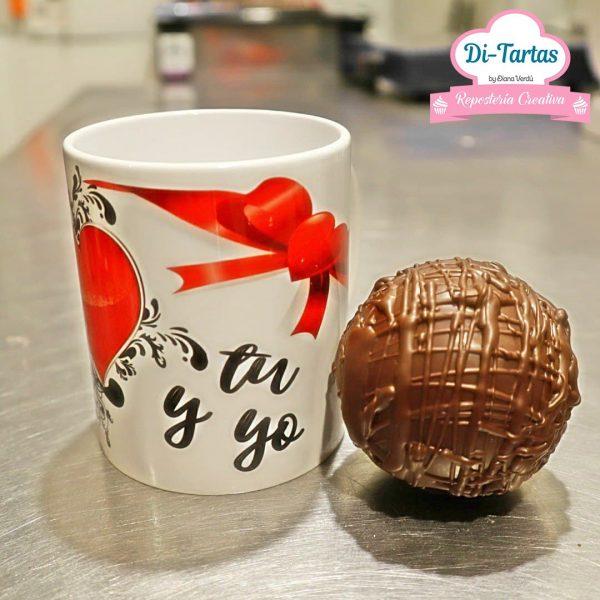 taza corazon chocolate ditartas